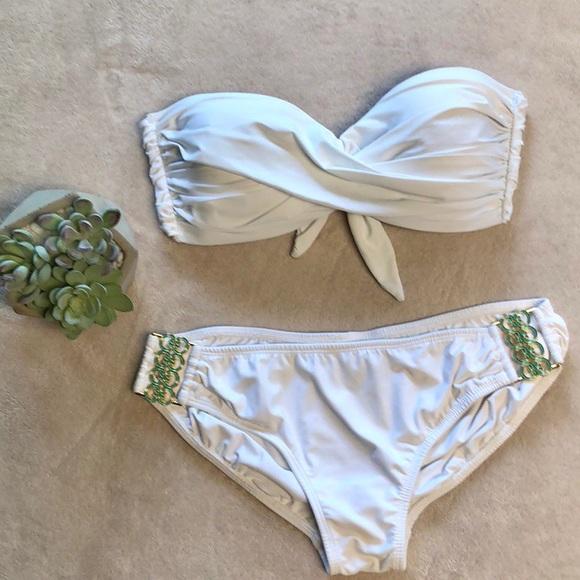 Tara Grinna Other - Tara Grinna Bandeau Bikini Set in White
